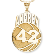 Custom Basketball Pendant w/ Name & Number