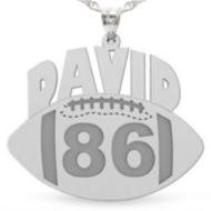 Custom Football Charm or Pendant w  Name   Number