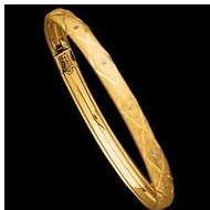 14K Yellow Gold Child s Flexible Bangle Bracelet