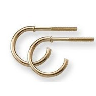 14K Yellow Gold Children s  Safety Back Hoop  Earrings