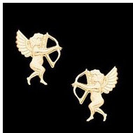 14K Yellow Gold Children's Cupid Earring