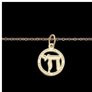 14K Yellow Gold Child Pendant W 15  Chain