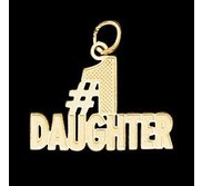14K Yellow Gold Teen   1 Daughter  Pendant