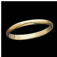 14K Yellow Gold    White Teen Joint Ring