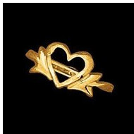 14K Yellow Gold Teen Open Heart Ring