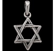 Sterling Silver teen Domed Star Of David Pendant