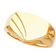 14K Gold Gents Signet ring