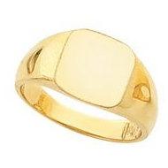 14K Gold Ladies Signet Ring