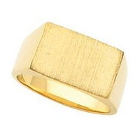 14K Gold Ladies Rectangle Signet Ring