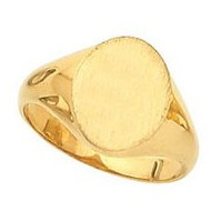14K Gold Ladies Oval Signet Ring