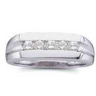Platinum Diamond Gents Ring