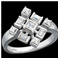 14K White Gold Right Hand Diamond Ring