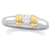 14K Yellow Gold Bridal Diamond Ring