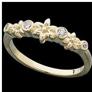 14K Yellow Gold Two Tone Diamond Ring