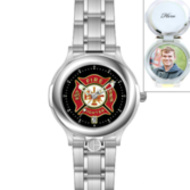 Portrait Watch Firefighter s Watch  Silver Stainless  for Men