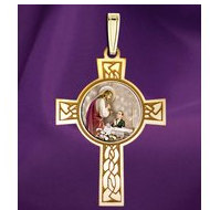 First Holy Communion Boy Cross Medal   Color EXCLUSIVE