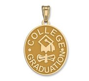 College Graduation Oval Pendant