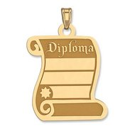 Graduation Engraveable Diploma Pendant