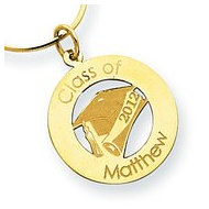 12  Personalized Graduation Round Cut out Pendant
