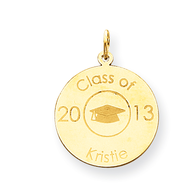 2013 Personalized Graduation Charm