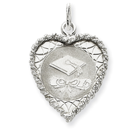 Sterling Silver Graduation Cap   Diploma Disc Charm