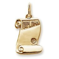 Custom Engravable Graduation Diploma Charm or Pendant