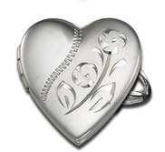 Sterling Silver Heart Locket Ring