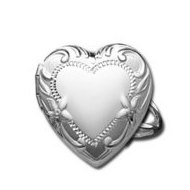 Sterling Silver Locket Ring