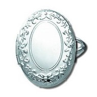 Sterling Silver Oval Locket Ring