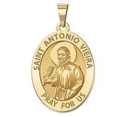 Saint Antonio Vieira Religious Oval Medal  EXCLUSIVE