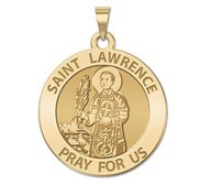 Saint Lawrence of Rome Religious Medal   EXCLUSIVE