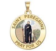 Saint Peregrine Religious Medal  Color EXCLUSIVE