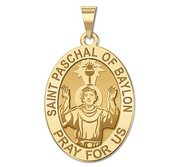 Saint Paschal of Baylon Medal  OVAL  EXCLUSIVE