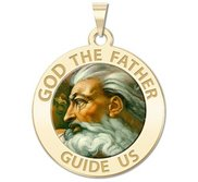 GOD the Father Religious Medal  Color EXCLUSIVE