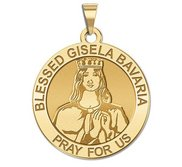 Blessed Gisela Bavaria Round Religious Medal  EXCLUSIVE