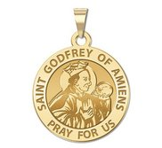 Saint Godfrey of Amiens Religious Medal  EXCLUSIVE