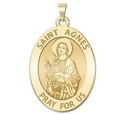 Saint Agnes Oval Religious Medal    EXCLUSIVE