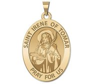Saint Irene of  Tomar OVAL Religious Medal   EXCLUSIVE