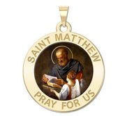 Saint Matthew Religious Medal  Color EXCLUSIVE