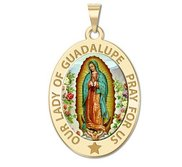 Our Lady of Guadalupe Religious Medal  OVAL  EXCLUSIVE
