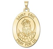 Saint Eric Oval Religious Medal   EXCLUSIVE