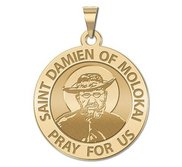 Saint Damien of Molokai Religious Medal   EXCLUSIVE