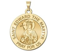 Saint Edward the Martyr Religious Medal  EXCLUSIVE