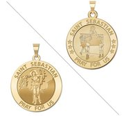 Volleyball   Saint Sebastian Doubledside Sports Religious Medal  EXCLUSIVE