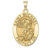 Saint Michael OVAL Religious Medal   EXCLUSIVE
