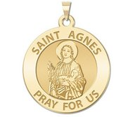 Saint Agnes of Rome Religious Medal   EXCLUSIVE