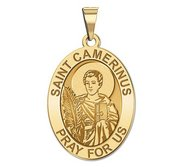Saint Camerinus Oval Religious Medal   EXCLUSIVE