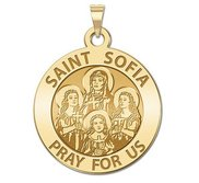 Saint Sofia w  Hope Faith   Charity  Religious Medal  EXCLUSIVE