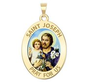 Saint Joseph Religious Oval Color Medal  EXCLUSIVE