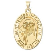 Saint Teresa of Calcutta   Oval Religious Medal  EXCLUSIVE